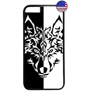 Fierce Wolf Teen Art Rubber Case Cover For Iphone