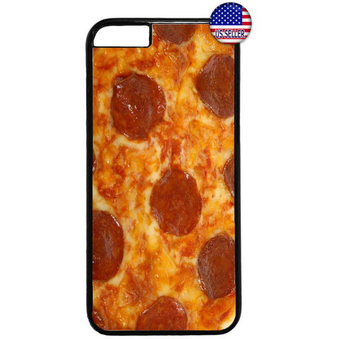 Pepperoni Pizza Food Rubber Case Cover For Iphone