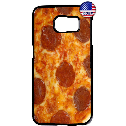 Pepperoni Pizza Food Rubber Case Cover For Samsung Galaxy