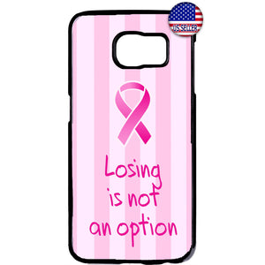 Pink Ribbon Breast Cancer Awareness Rubber Case Cover For Samsung Galaxy