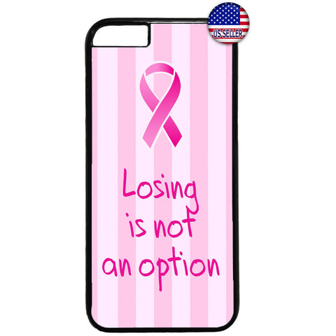 Pink Ribbon Breast Cancer Awareness Rubber Case Cover For Iphone