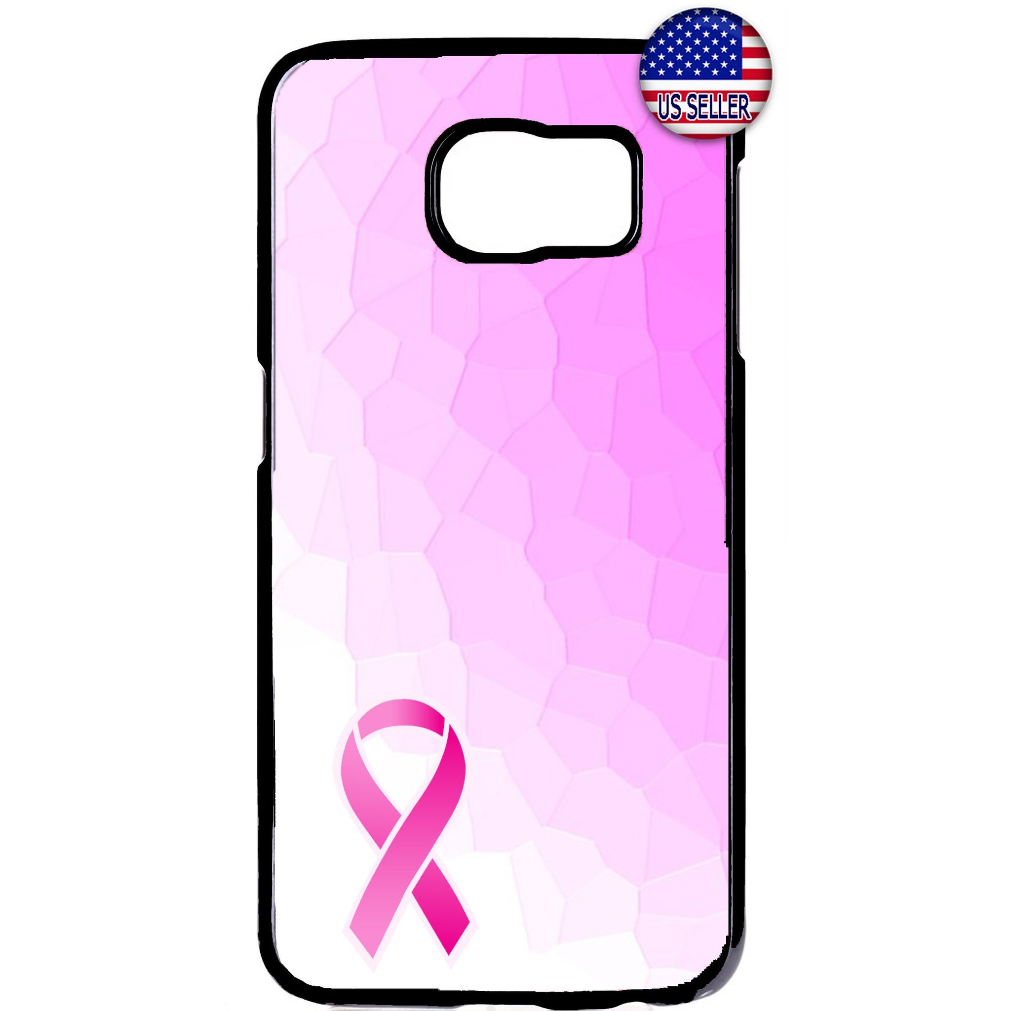 Breast Cancer Awareness Pink Ribbon Rubber Case Cover For Samsung Galaxy