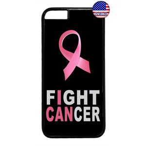Fight Cancer Pink Ribbon Breast Cancer Awareness Rubber Case Cover For Iphone