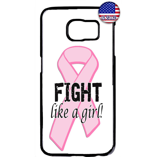 Fight Like a Girl Breast Cancer Awareness Rubber Case Cover For Samsung Galaxy Note