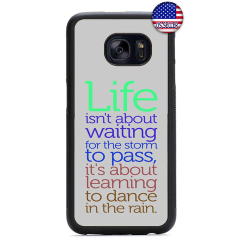 Life Dance In The Rain Rubber Case Cover For Samsung Galaxy