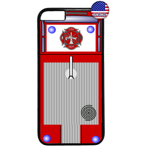 Fire Department Truck Firefighter Rubber Case Cover For Iphone