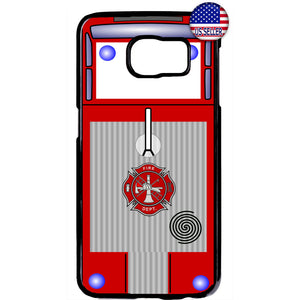 Fire Department Truck Firefighter Rubber Case Cover For Samsung Galaxy