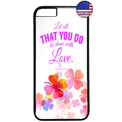 Floral Done With Love Rubber Case Cover For Iphone