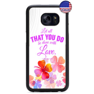 Floral Done With Love Rubber Case Cover For Samsung Galaxy
