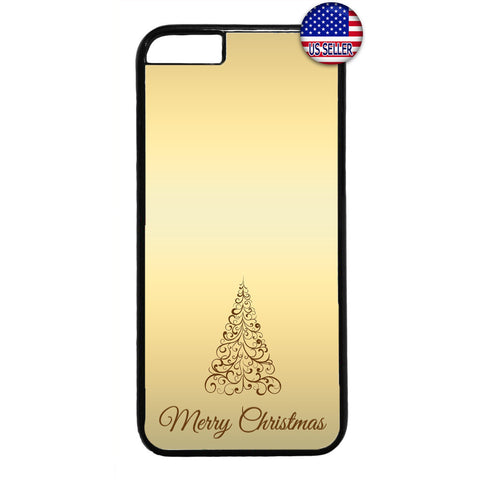 Gold Merry Christmas Rubber Case Cover For Iphone
