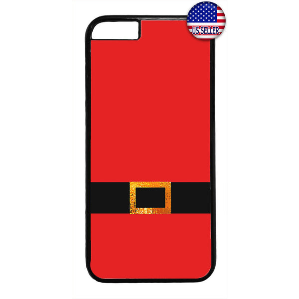 Santa Clause Belt Xmas Rubber Case Cover For Iphone