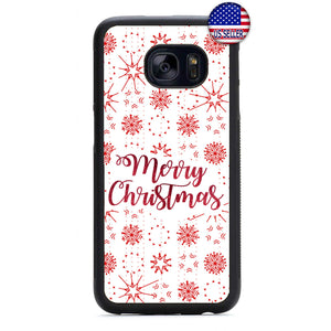 Merry Christmas Snow Flakes Rubber Case Cover For Samsung Galaxy Note