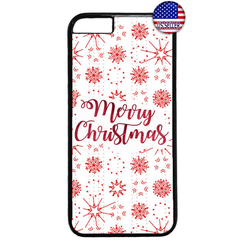 White Snow Flakes Merry Christmas Rubber Case Cover For Iphone