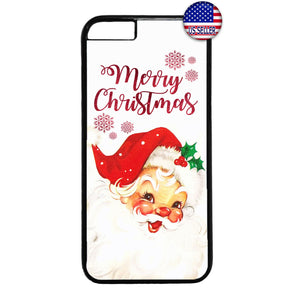 Funny Santa Merry Christmas Rubber Case Cover For Iphone