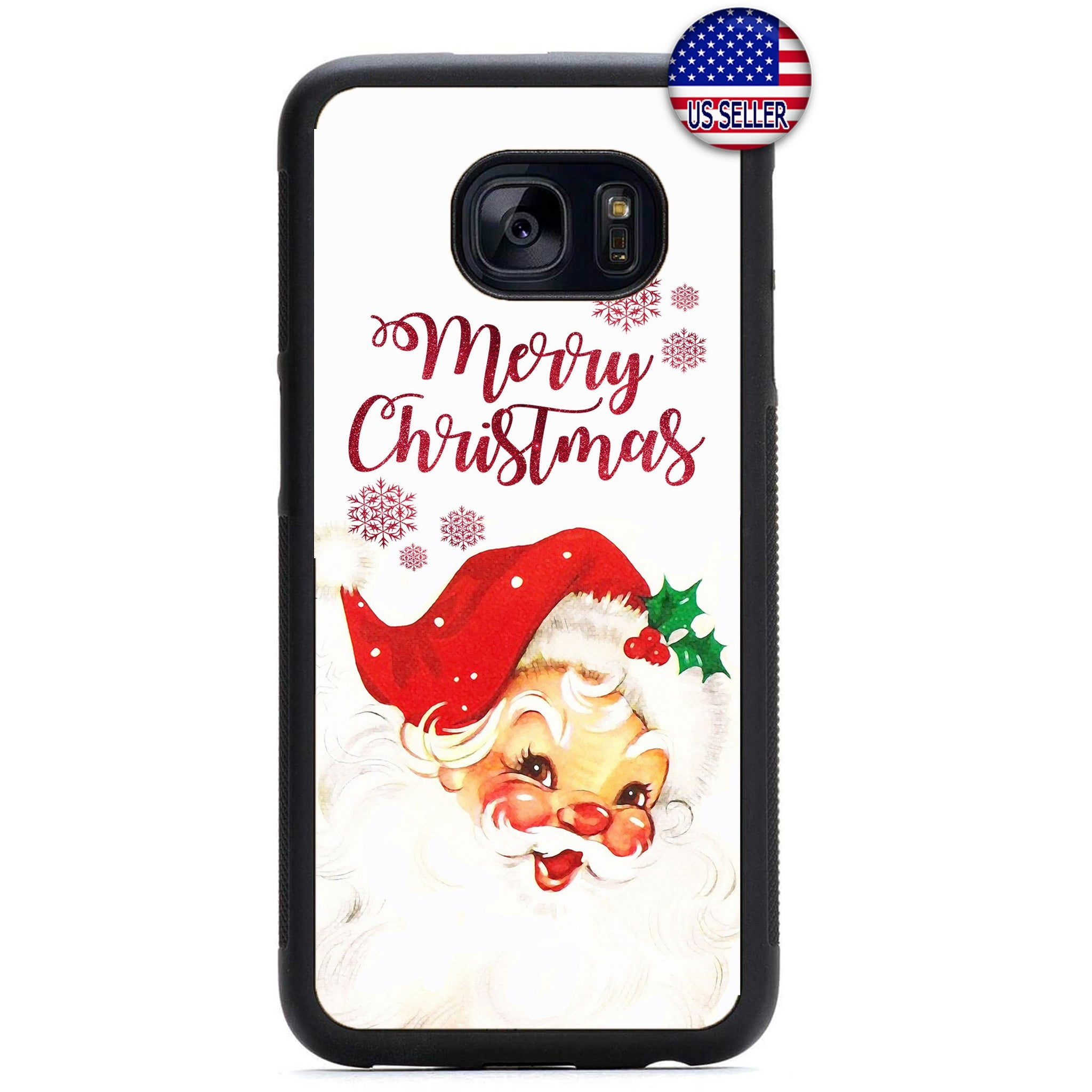 Funny Santa Merry Christmas Rubber Case Cover For Samsung Galaxy