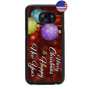 Merry Christmas New Year Holiday Rubber Case Cover For Samsung Galaxy