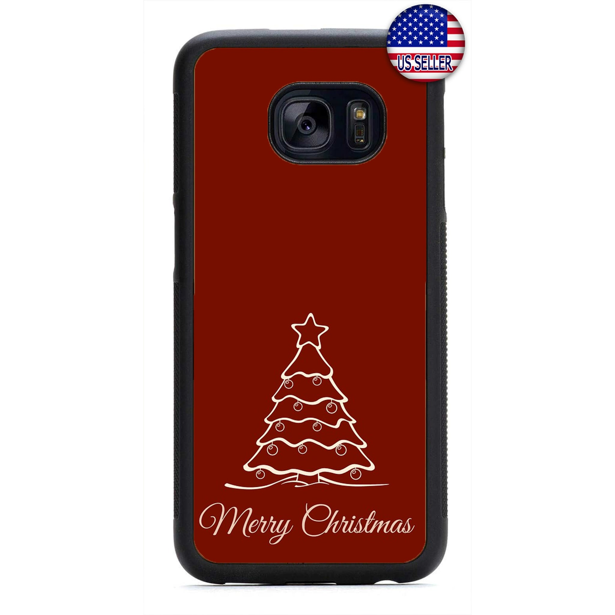 Red Merry Christmas Tree Rubber Case Cover For Samsung Galaxy Note