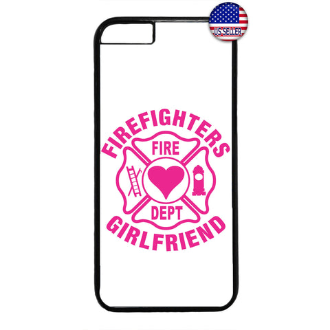 Proud Firefighter's Girlfriend Love Fire Dept. Rubber Case Cover For Iphone