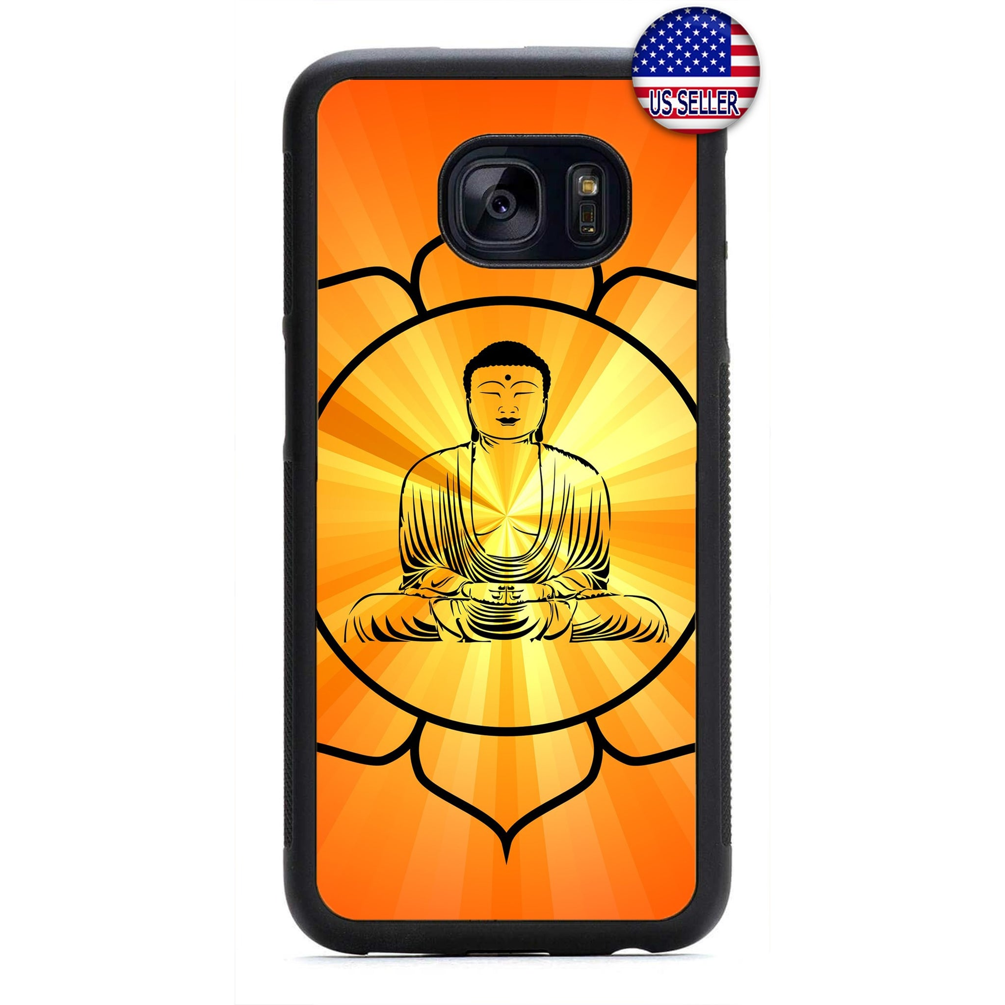 Buddha Lotus yoga Rubber Case Cover For Samsung Galaxy