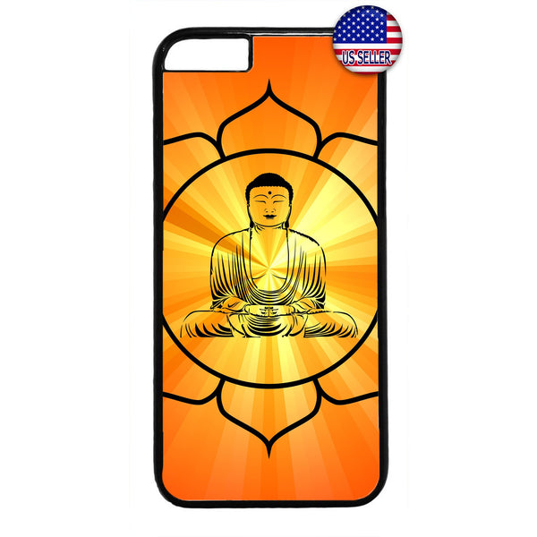 Buddha Lotus yoga Rubber Case Cover For Iphone