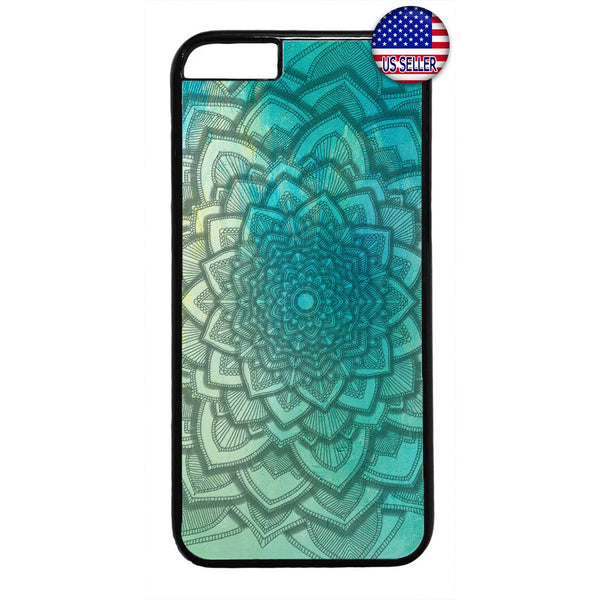 Mandala Henna Floral Rubber Case Cover For Iphone