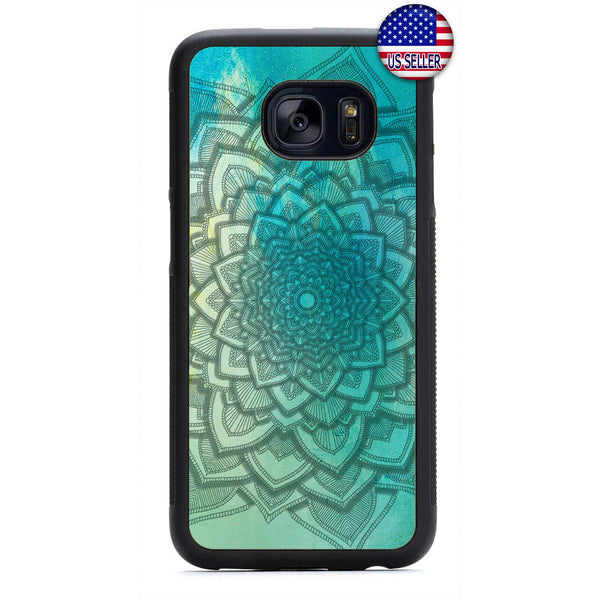 Mandala Henna Floral Rubber Case Cover For Samsung Galaxy