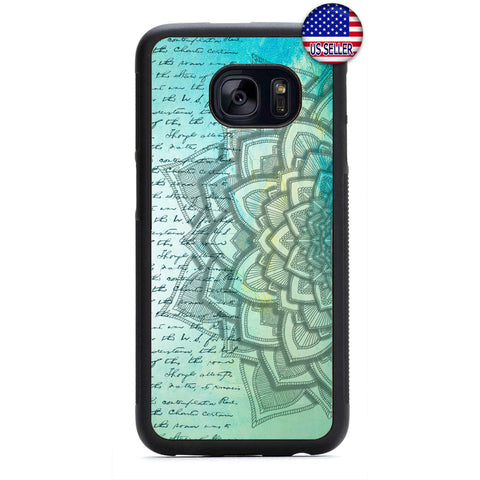 Retro Mandala Henna Rubber Case Cover For Samsung Galaxy