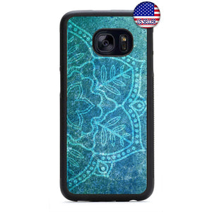 Marble Mandala Henna Rubber Case Cover For Samsung Galaxy