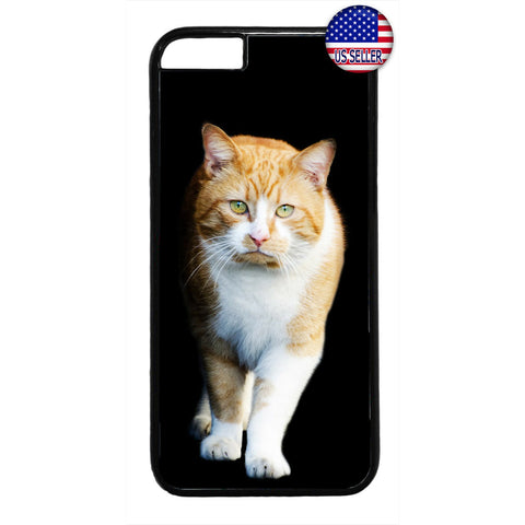 Ginger Kitty Cat Pet Fur Rubber Case Cover For Iphone