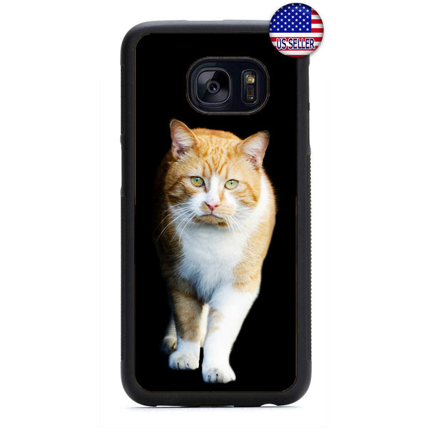 Ginger Kitty Cat Pet Fur Rubber Case Cover For Samsung Galaxy