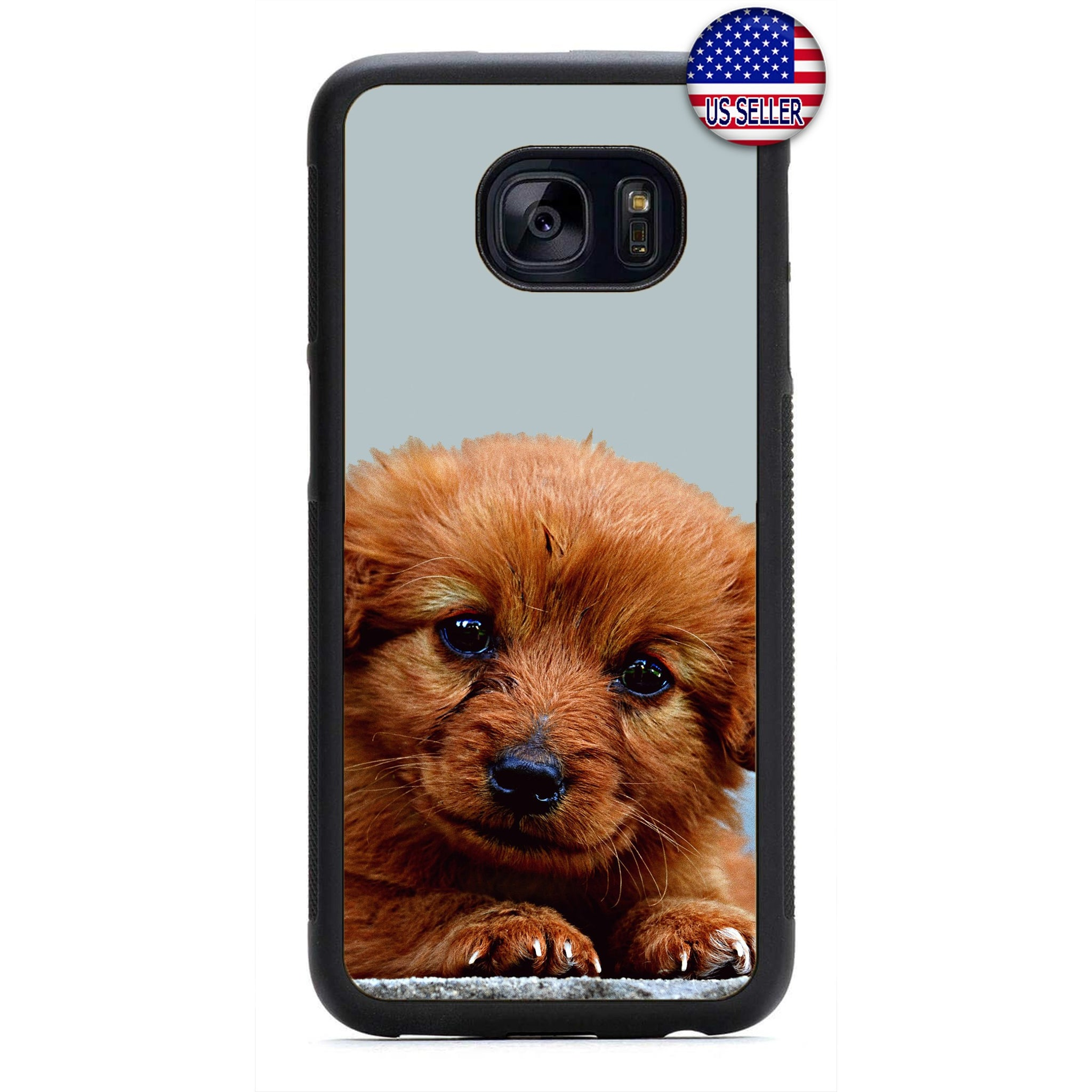 Paws Cute Puppy Dog Pet Rubber Case Cover For Samsung Galaxy