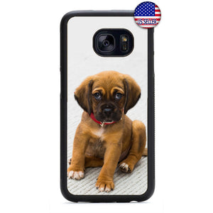 Cute Puppy Dog Red Collar Rubber Case Cover For Samsung Galaxy Note