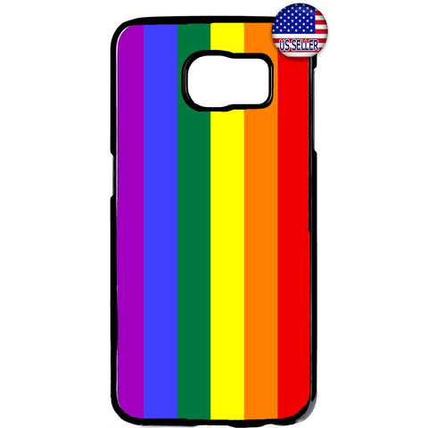 LGBT Gay & Lesbian Rainbow Flag Rubber Case Cover For Samsung Galaxy