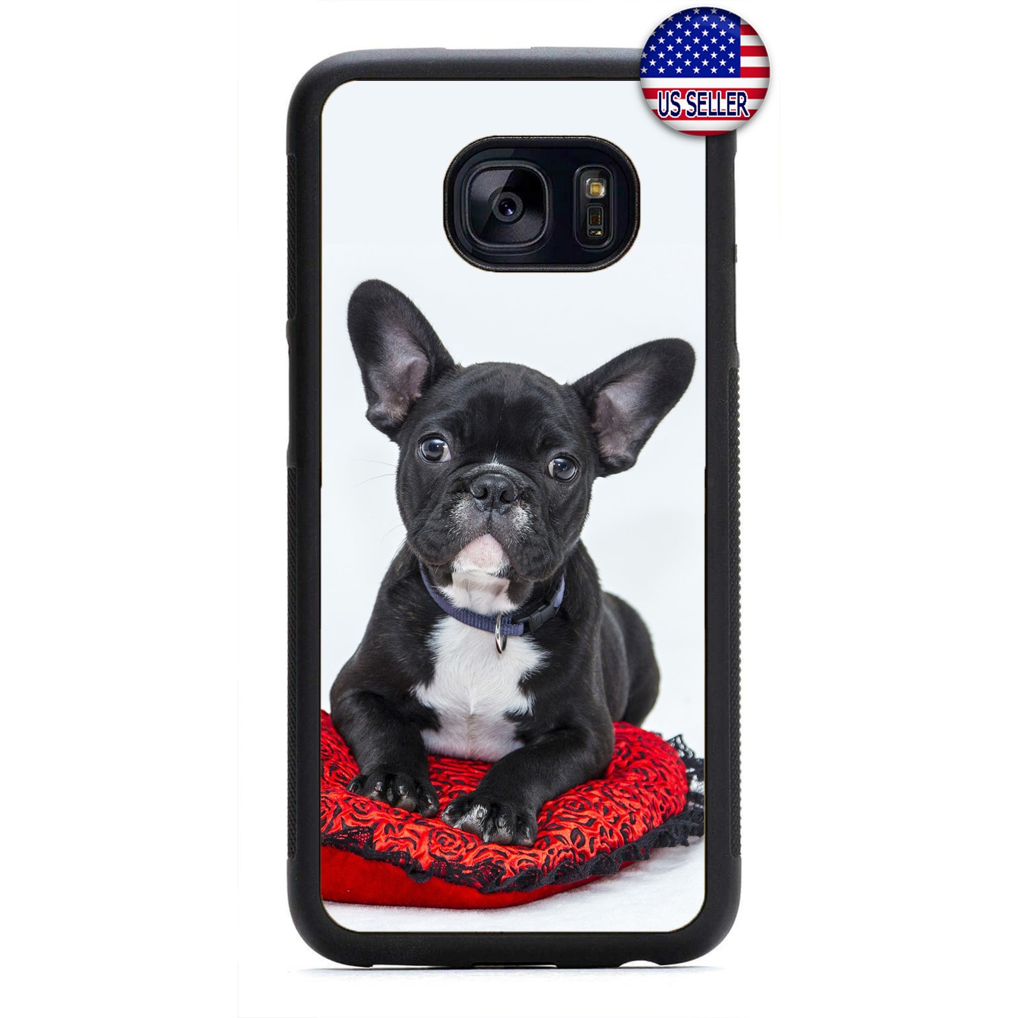 Puppy Boston Terrier Dog Rubber Case Cover For Samsung Galaxy Note