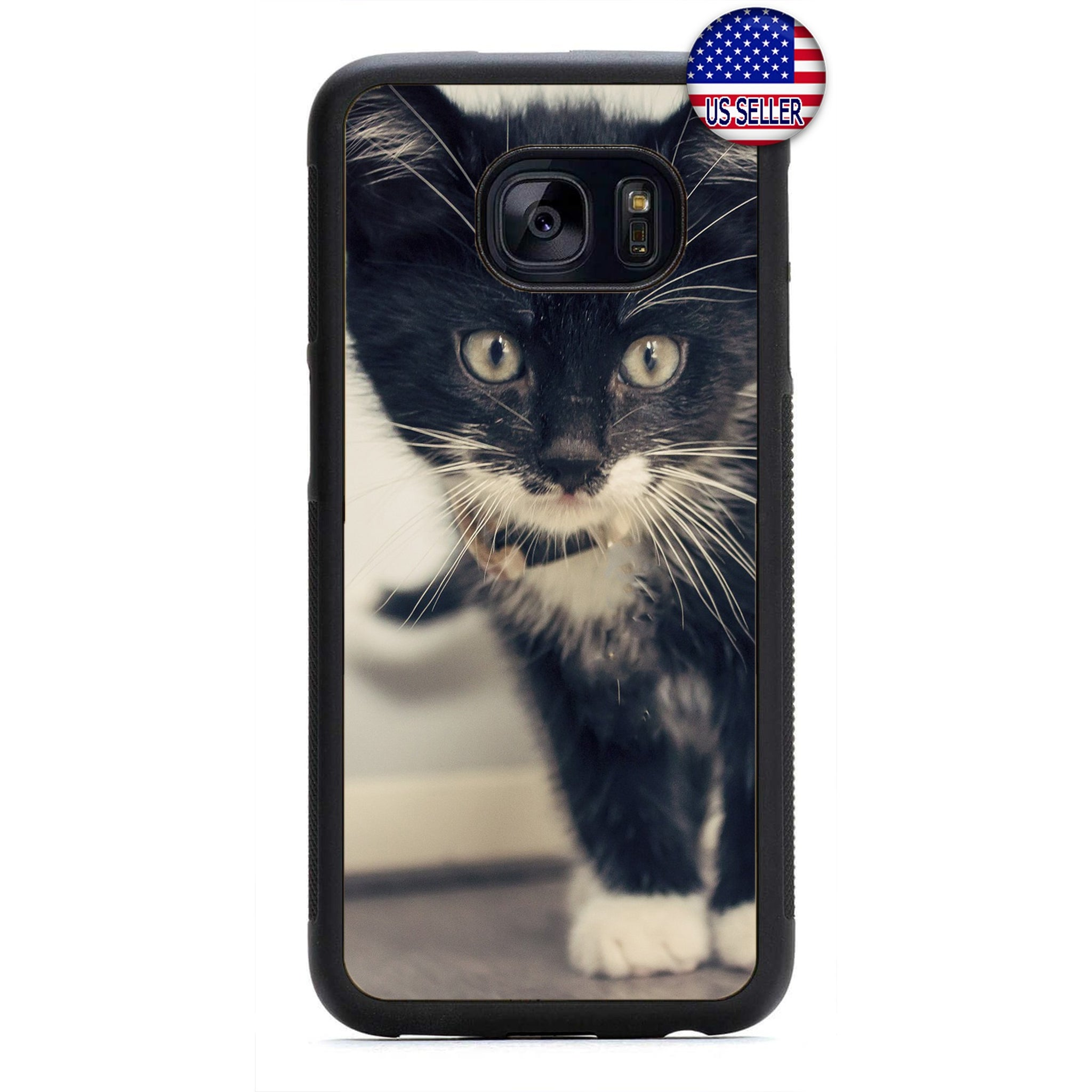 Kitty Cat Kitten Love Rubber Case Cover For Samsung Galaxy