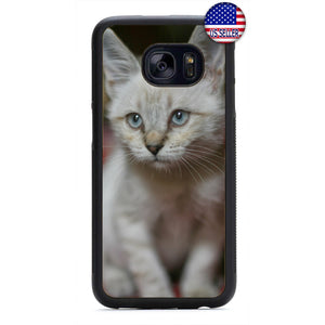 Kitty Cat Kitten Pet Fur Rubber Case Cover For Samsung Galaxy