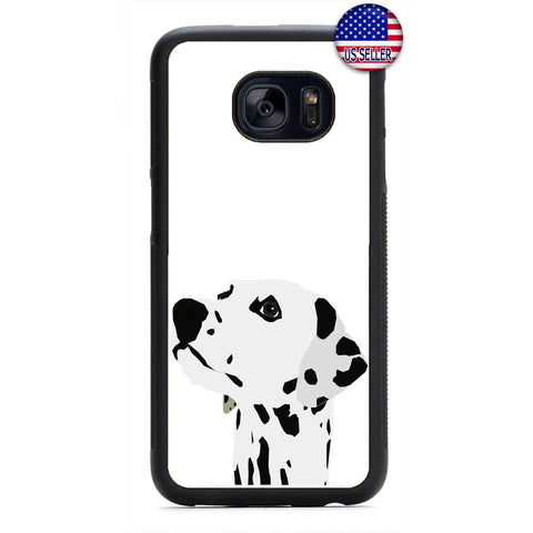 Dog Dalmatian Spots Rubber Case Cover For Samsung Galaxy