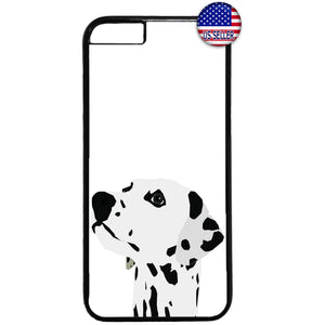 Dog Dalmatian Spots Rubber Case Cover For Iphone