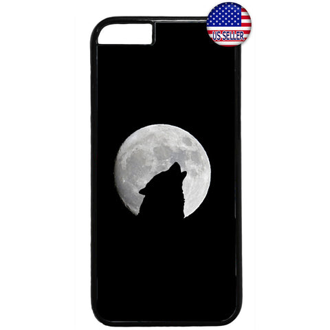 Howling Wolf Full Moon Rubber Case Cover For Iphone