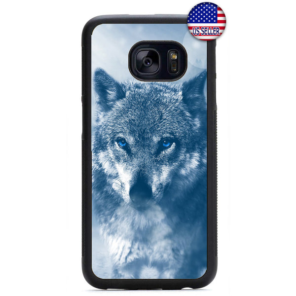 Wolf Wild Life Design Rubber Case Cover For Samsung Galaxy