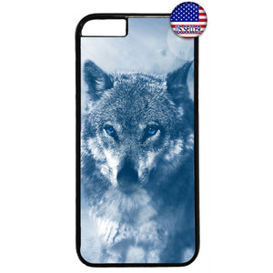 Wolf Wild Life Design Rubber Case Cover For Iphone