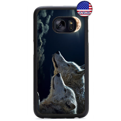 Full Moon Wolves Dog Rubber Case Cover For Samsung Galaxy Note