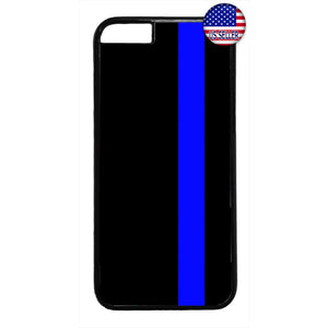 Police Force Thin Blue Line Rubber Case Cover For Iphone