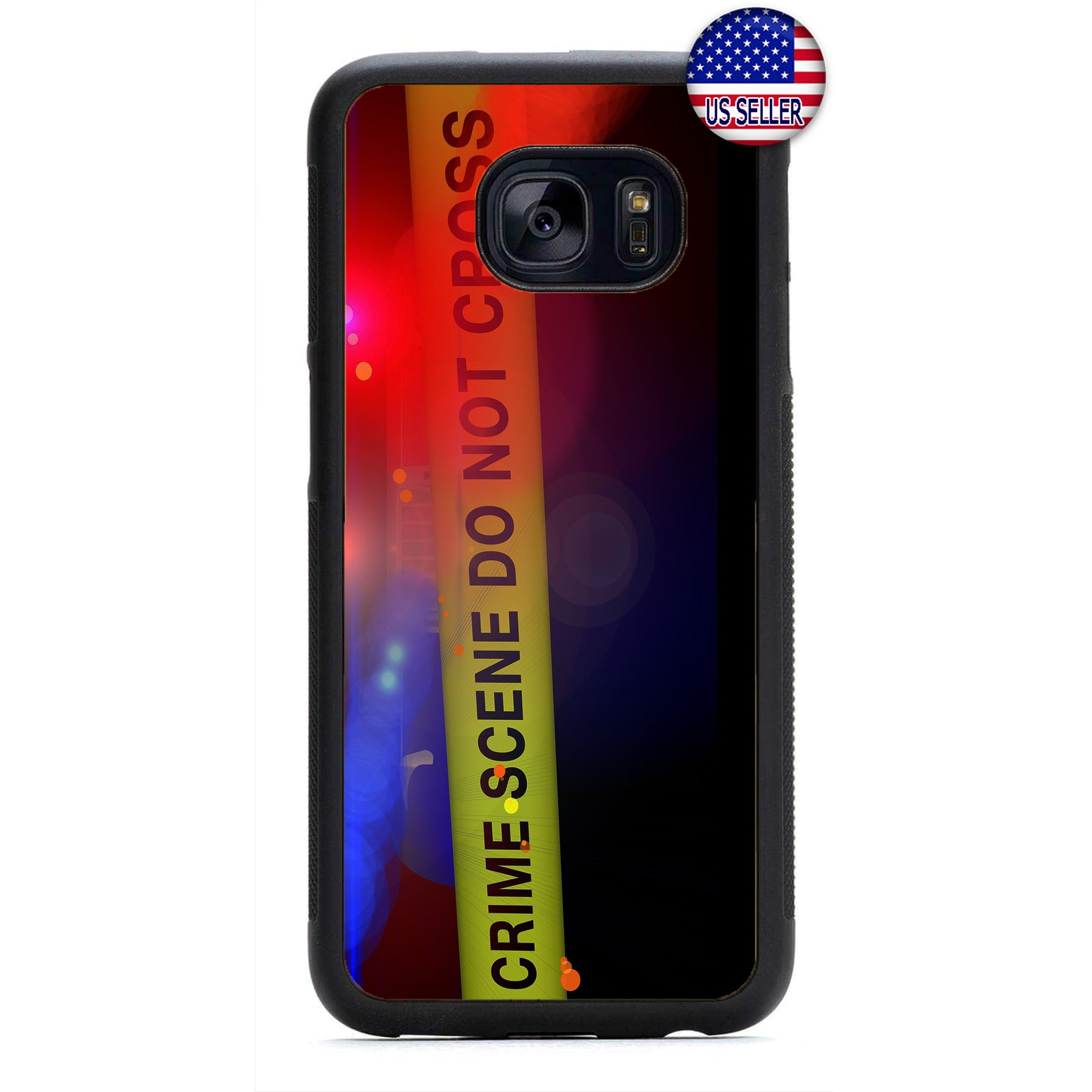 Police Force Crime Scene Line Rubber Case Cover For Samsung Galaxy