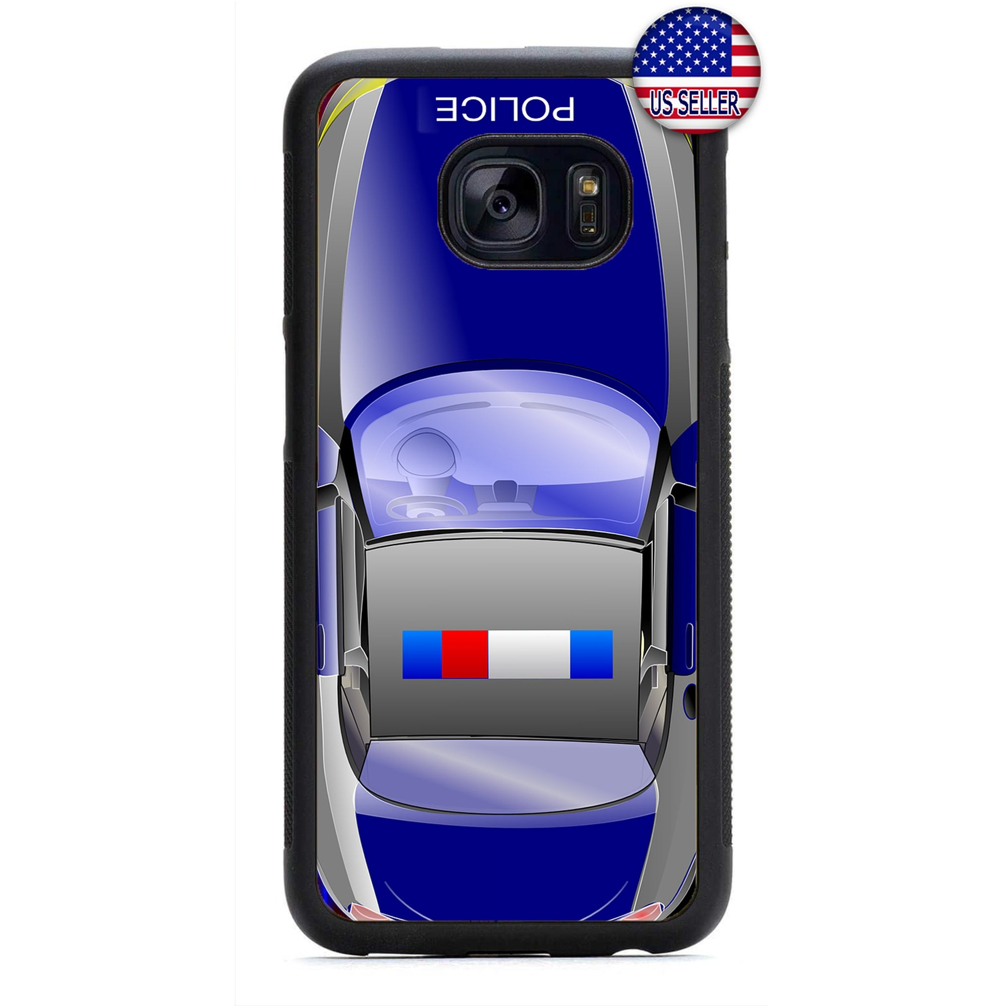 Police Force Highway Car Cops Rubber Case Cover For Samsung Galaxy