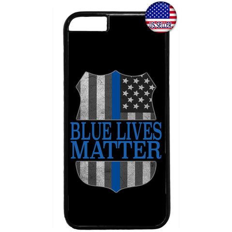 Police Force Blue Lives Matter Rubber Case Cover For Iphone