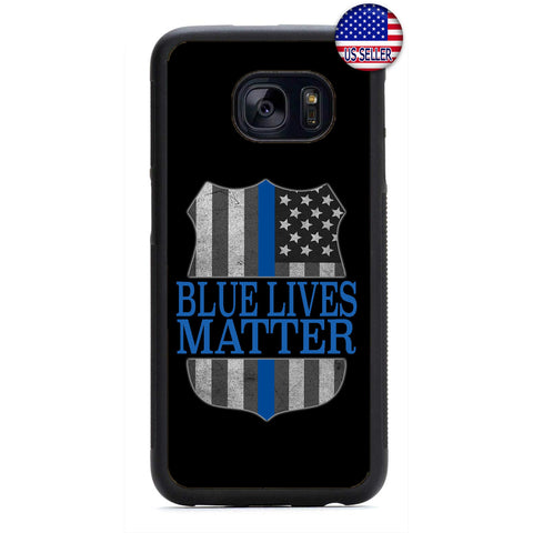 Police Force Blue Lives Matter Rubber Case Cover For Samsung Galaxy