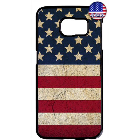 Distressed USA Flag Stars & Stripes Pride Rubber Case Cover For Samsung Galaxy