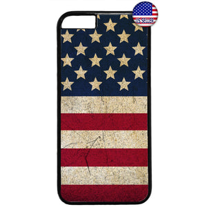 Distressed USA Flag Stars & Stripes Pride Rubber Case Cover For Iphone