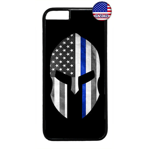 Police Force Warrior USA Flag Rubber Case Cover For Iphone